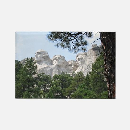 Mount Rushmore Rectangle Magnet