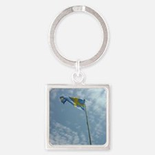 Swedish Flag Square Keychain
