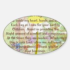 Nurse Prayer Blanket Size Yellow Sticker (Oval)