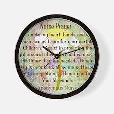 Nurse Prayer Blanket Size Yellow Wall Clock