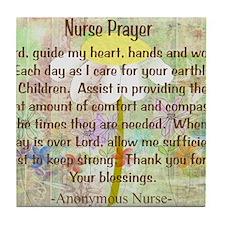 Nurse Prayer Blanket Size Yellow Tile Coaster