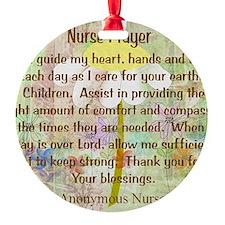Nurse Prayer Blanket Size Yellow Ornament
