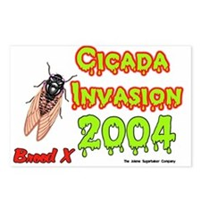 Cicada Invasion Postcards (Package of 8)