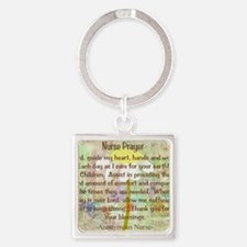 Nurse Prayer Blanket Size Yellow Square Keychain