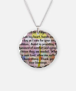 Nurse prayer blanket PINK Necklace