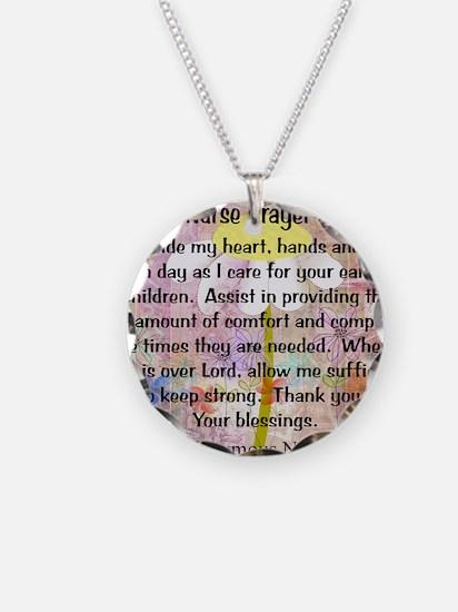Nurse prayer blanket PINK Necklace