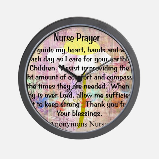 Nurse prayer blanket PINK Wall Clock