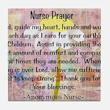 Nurse prayer blanket PINK Tile Coaster