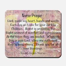 Nurse prayer blanket PINK Mousepad