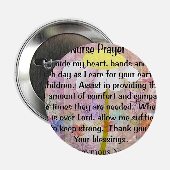 """Nurse prayer blanket PINK 2.25"""" Button"""