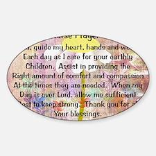 Nurse prayer blanket PINK Sticker (Oval)