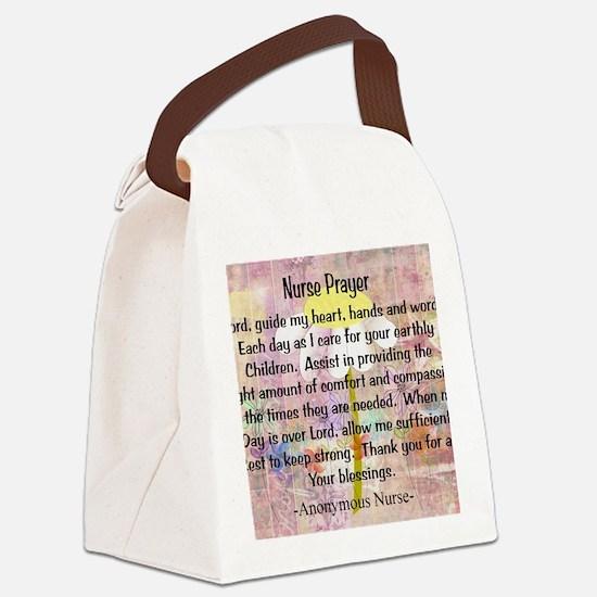 Nurse prayer blanket PINK Canvas Lunch Bag