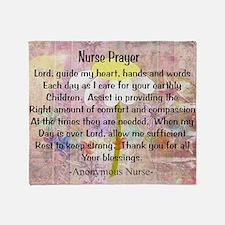 Nurse prayer blanket PINK Throw Blanket