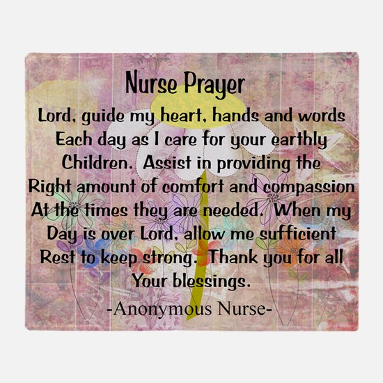 Nurse prayer blanket PINK Throw Blanket