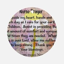 Nurse prayer blanket PINK Round Ornament