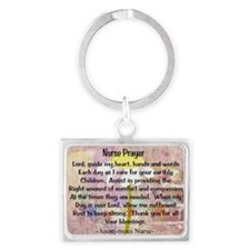 Nurse prayer blanket PINK Landscape Keychain