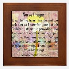 Nurse prayer blanket PINK Framed Tile