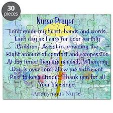 Nurse prayer blanket BLUE Puzzle