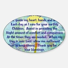Nurse prayer blanket BLUE Sticker (Oval)