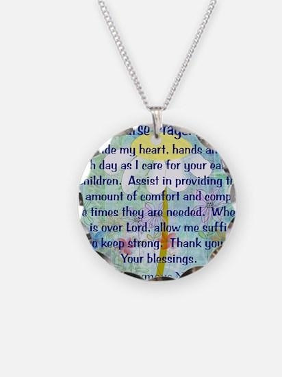 Nurse prayer blanket BLUE Necklace