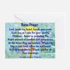 Nurse prayer blanket BLUE Greeting Card