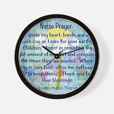 Nurse prayer blanket BLUE Wall Clock