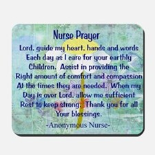 Nurse prayer blanket BLUE Mousepad
