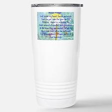 Nurse prayer blanket BLUE Travel Mug