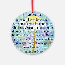 Nurse prayer blanket BLUE Round Ornament