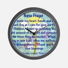 Nurse prayer blanket BLUE Wall Clock