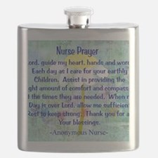 Nurse prayer blanket BLUE Flask