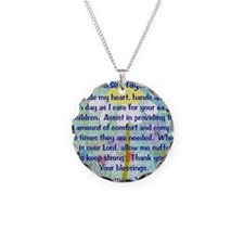 Nurse prayer blanket BLUE Necklace