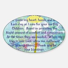 Nurse prayer blanket BLUE Sticker (Oval)