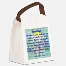 Nurse prayer blanket BLUE Canvas Lunch Bag