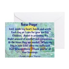 Nurse prayer blanket BLUE Greeting Card