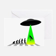 Alien-Abduction Greeting Card