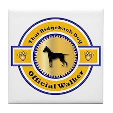Ridgeback Walker Tile Coaster