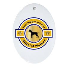 Ridgeback Walker Oval Ornament