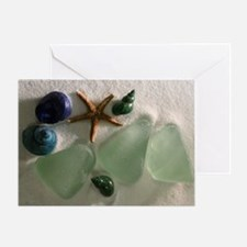Sea Glass and Shells Greeting Card