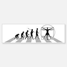 Vitruvian-Man-B Bumper Bumper Sticker