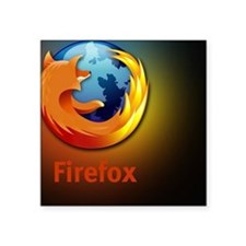 "firefox Square Sticker 3"" x 3"""