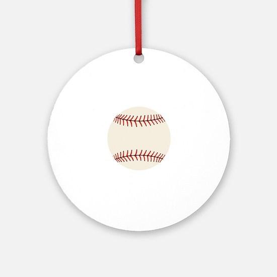 Baseball, Hardball Round Ornament