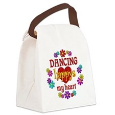 Dancing Happy Canvas Lunch Bag