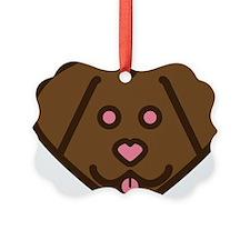 Chocolate lab 2 Ornament