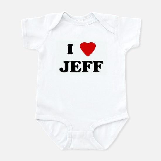 I Love JEFF Infant Bodysuit