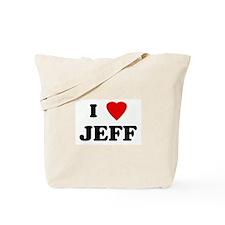 I Love JEFF Tote Bag