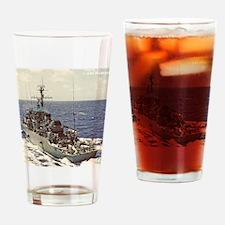 uss fearless framed panel print Drinking Glass