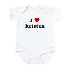 I Love kristen Infant Bodysuit