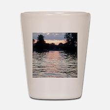 Indian lake Sunset Shot Glass