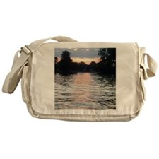 Indian lake Sunset Messenger Bag